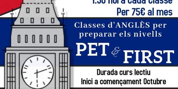 PROVA DE NIVELL D'ANGLÉS PET & FIRST