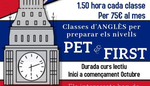CURSOS D'ANGLÈS CERTIFICAT PET i FIRST