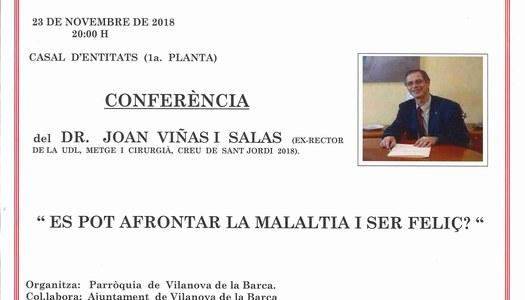 Conferència divendres dia 23 de novembre de 2018