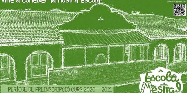 Període de preinscripció CEIP Mestral curs 2020-2021