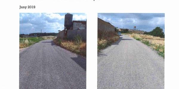 Reparació del camí municipal de La Central, fase 1 a Vilanova de la Barca