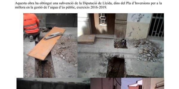 Substitució de les escomeses de plom de la xarxa municipal d'abastament d'aigua potable