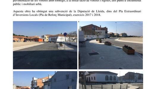 Urbanització del carrer La Dula i del seu entorn