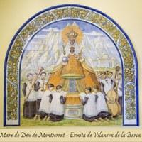 Detall ceràmica Ermita de la Mare de Déu de Montserrat