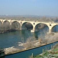 Pont sobre el riu Segre a Vilanova de la Barca